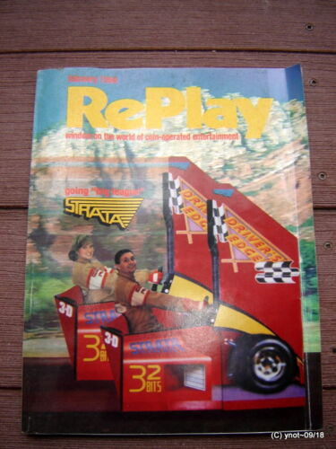 Feb 1994 REPLAY MAGAZINE: Wipe Out Pinball;Mortal Kombat;Bally;Gottlieb;Jukebox