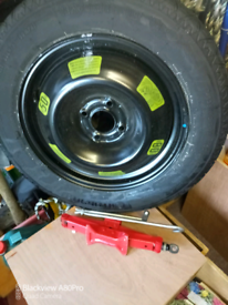 New, Spacesaver Wheel and jack