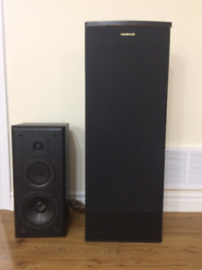 "2+2 speakers and 10"" subwoofer for surround system"