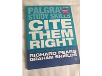 Palgrave Study Skills Cite Them Right The Essential Referencing Guide