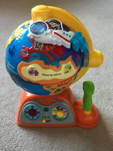 Fun interactive globe by VTech-in french