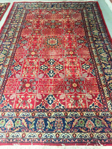 Handknotted Persian Rug,Wool,10.5 x 6.10 ft,Vintage carpet