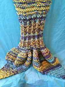 Knitted Mermaid Tail Blanket Windsor Region Ontario image 2