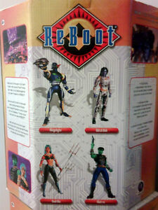 ReBoot Large Action Figures (Complete Set of 4). VERY RARE. NEW.