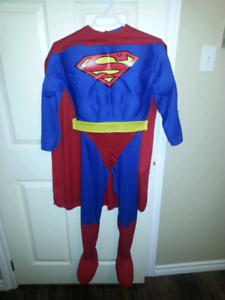 Superman costume. Kids size medium about at 8 to 10.