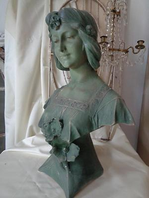 Antike BÜSTE Skulptur Plastik Art Nouveau Frankreich mehrf. gemarkt