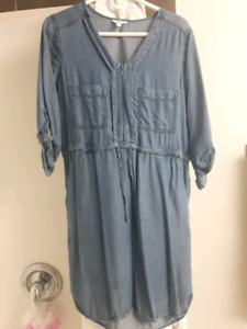 Denim maternity/nursing dress