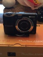 CANON POWERSHOT A1400 DIGITAL CAMERA **LIKE NEW**