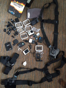 GoPro 3 with all the accessories and doubles
