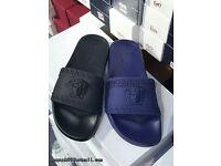 Brand new Versace Slides (Blue size 7)