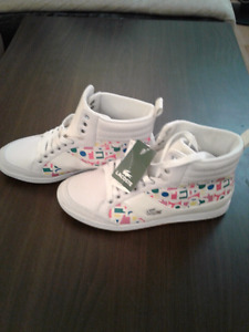 Lacoste Girls or Women Size 5 Brand New with Tags White & Pink