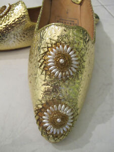 MOROCCAN SHOES BABOUCHES Ladies Fits size 7-7.5 (NEW) West Island Greater Montréal image 3