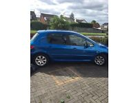 2005 Peugeot 307 X-Line only 84,000k mot may 2pre owners