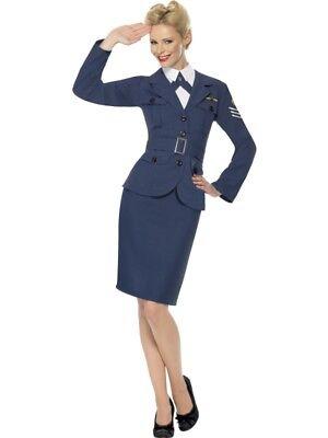 Gebraucht Air Force Offizierin Kostüm Damen Größe M - Air Force Uniform Kostüme
