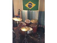 5 Piece Hohner Drum Kit w/ Sabian Solar Cymbals