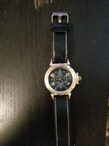 Water resistant stainless steel leather strap