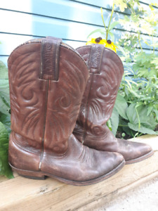 Cowgirl Cowboy Leather Boots 7.5-8