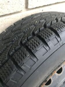 "HYUNDAI ACCENT SNOW TIRES ON RIMS 175/65R14"" ON 4X100 BOLT"
