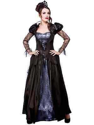 Wicked Queen Ladies Fancy Dress Halloween Womens Fairytale Horror Costume Outfit