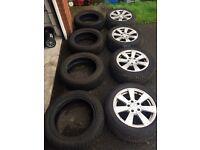 "16"" Mercedes C Class Alloy Wheels & set of Winter Tyres"