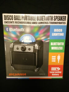 Sylvania DISCO BALL BLUETOOTH SPEAKER with auxiliaryin port-Jack