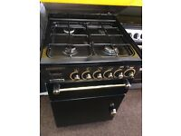 Black rang master 55cm gas cooker grill & oven good condition with guarantee bargain