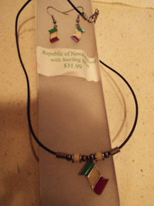 Republic of Newfoundland necklace and earring set