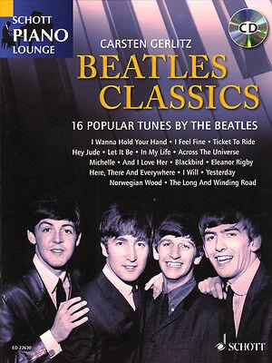 Schott Piano Lounge Beatles Classics Klavier Noten mit CD Carsten Gerlitz