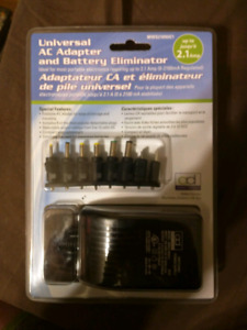Universal AC/DC Adapter and Battery Eliminator