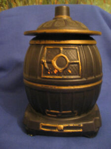 1950's McCoy Black Potbelly Stove Cookie Jar