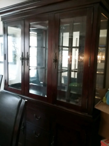 Dining room set China cabinet table and 6 chairs side table