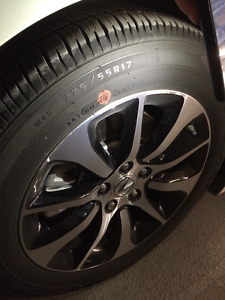 Goodyear Eagles 225/55R17 All Season Tires x4 - GREAT CONDITION