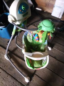 Baby motorized swing with mobile battery operated