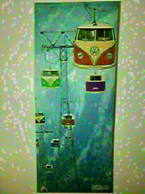 Aerial Suspended Cable Cars VW Transporter T2 canvas print painting