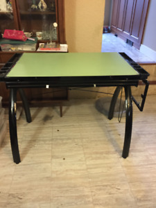 Glass Tilting Drafting Table with drawers