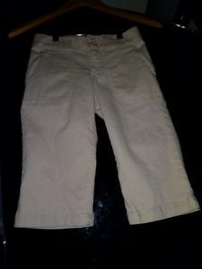 Beigh capri pants gap kids size 8 regular