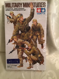Tamiya Model Military German Soldiers Africa Corp infantry Set