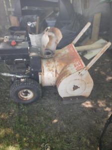 broken snowblower