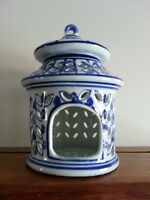 Blue and White Decoration Bird Cage / Candle Holder