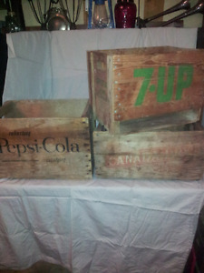 Various Vintage, LICENSED Wooden Crates... Starting at only $20.