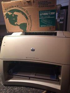 hp laserjet printer with cartridge