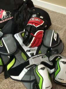 Bantam (Like New) Hockey gear