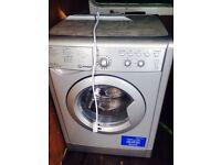 Indesit washing machine 1600 spin silver 6kg