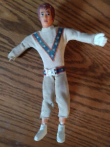 Vintage 1972 Evil Evel Knievel Action Figure Ideal Toys