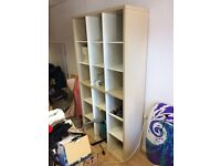 Shelving unit with lots of cubbies