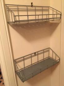 2x Metal Ikea shelves