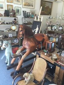 1970s Very High Quality, Solid Wood, Rocking Horses - £800each. (£2,000-3,000 in Harrods!)