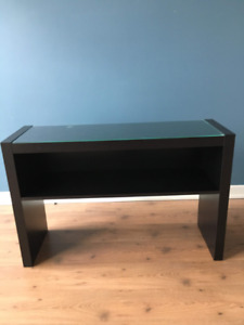 matching side table/bar and coffee table