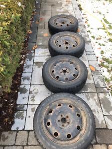 205 55 R16 pneu d'hiver avec jante