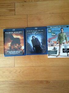 Breakin bad season 1, batman blue ray movies